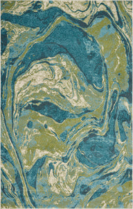 KAS Watercolors 6238 Teal Area Rug