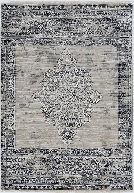 KAS Westerly 7650 Sand/Charcoal Area Rug