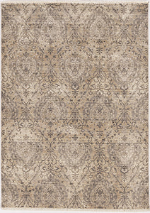KAS Westerly 7652 Sand/Grey Area Rug