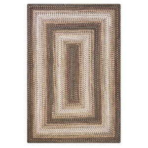 Home Spice Wildwood Ultra Durable Braided Rug : Brown, Grey, Ivory