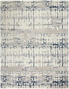 Nourison Twilight TWI10 Ivory/Navy Area Rug