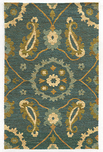Tommy Bahama Valencia 57702 Blue Area Rug by Oriental Weavers