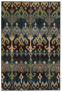 Tommy Bahama Vintage 8122N Blue Area Rug by Oriental Weavers