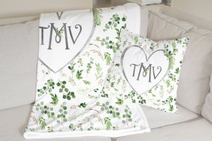 Monogram Pillow - Greenery Collection