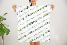 Load image into Gallery viewer, Swaddle personalized Baby Blanket - Greenery Collection