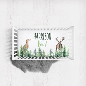 Woodland Custom crib sheet- Forest Animals collection
