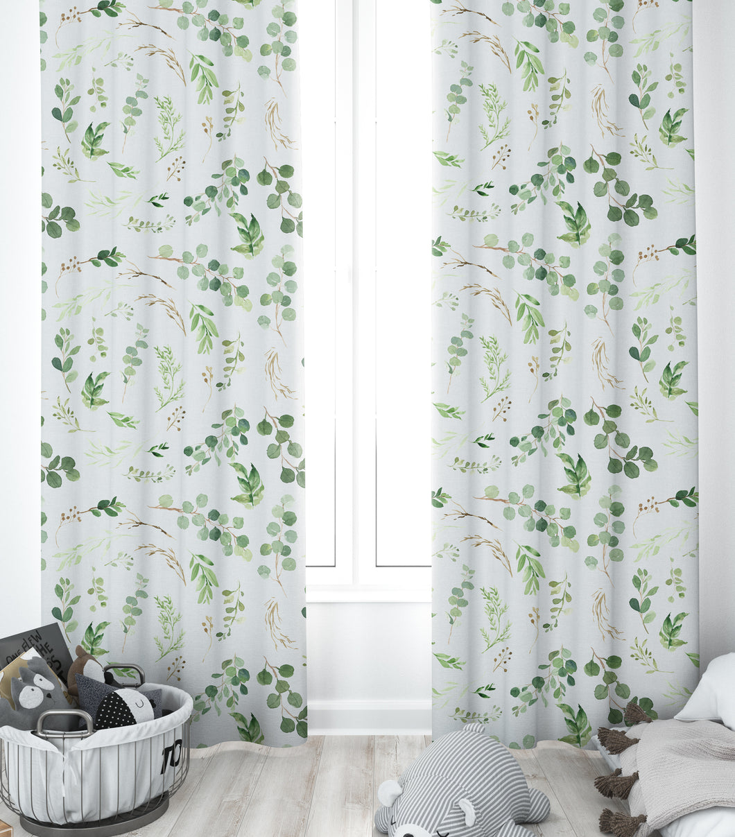 Nursery Curtains - Greenery Collection