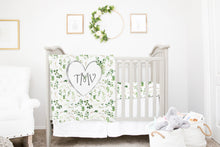 Load image into Gallery viewer, Monogrammed Baby Blanket - Greenery Collection
