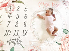 Load image into Gallery viewer, Milestone Blanket - Vintage Roses Collection