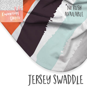 Personalized Baby Boy Blanket with a Name (à la Patchwork)- Forest Animals collection