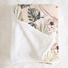 Load image into Gallery viewer, Monogrammed Baby Blanket - Modern Tropics Collection