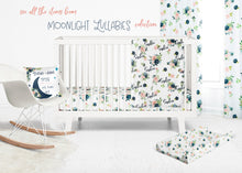Load image into Gallery viewer, Floral changing pad cover - Moonlight Lullabies Collection
