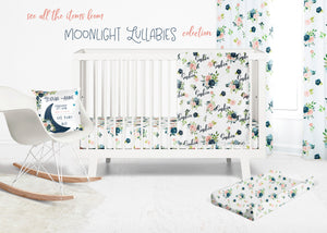 Floral changing pad cover - Moonlight Lullabies Collection