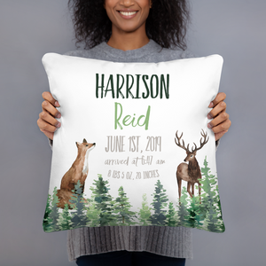 Personalized Baby pillow  pillow - Forest Animals collection