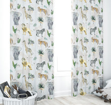 Load image into Gallery viewer, Nursery Curtains - Safari Animals Collection