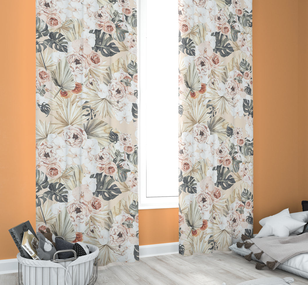 Nursery Curtains - Modern Tropics Collection