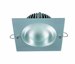 Downlight Led 25W cuadrado niquel