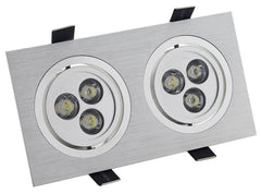 Empotrable Led alu new 2x3W