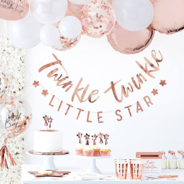 It's A Baby Girl Sash - Twinkle Twinkle - The Pretty Prop Shop Parties, Auckland New Zealand