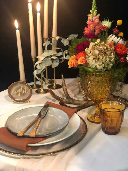 Taper Dinner Candle - Sand / Beige - The Pretty Prop Shop Parties, Auckland New Zealand