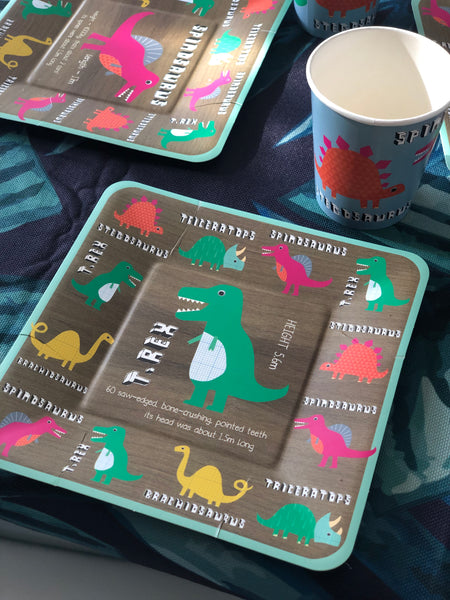 Dinosaur Paper Cups - The Pretty Prop Shop Parties, Auckland New Zealand