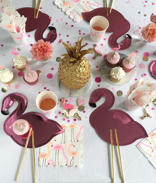 Pink Flamingo Plates - The Pretty Prop Shop Parties, Auckland New Zealand