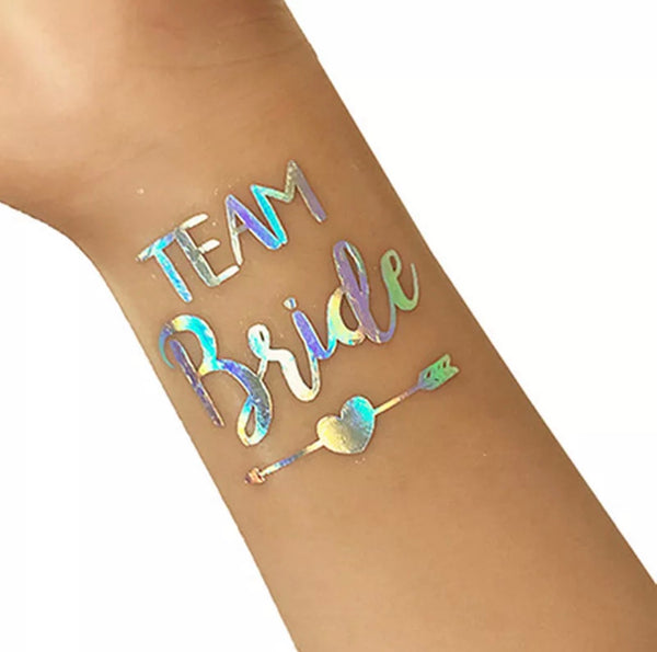 Team Bride Temporary Tattoo - Heart & Arrow Design