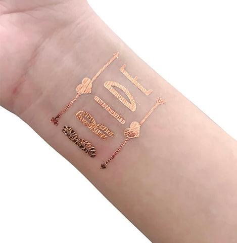 Hen's Party Temporary Tattoo - Rose Gold