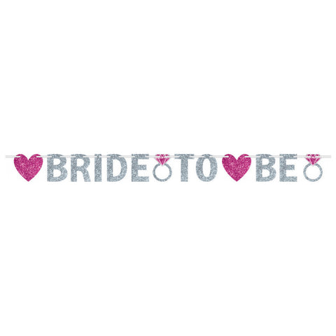 Bride To Be Glitter Banner - The Pretty Prop Shop Parties, Auckland New Zealand