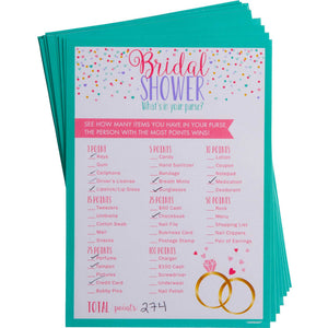 What's In Your Purse? Bridal Shower Game - The Pretty Prop Shop Parties, Auckland New Zealand