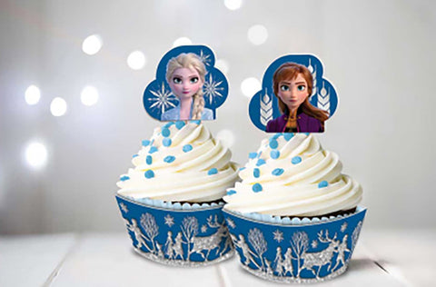 Frozen 2 Glittered Cupcake Kit - The Pretty Prop Shop Parties, Auckland New Zealand