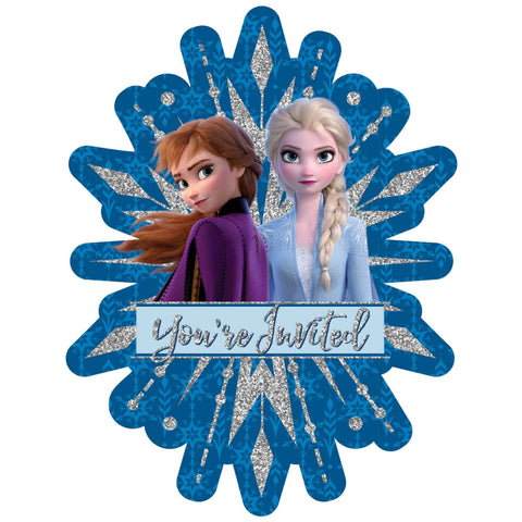 Frozen 2 Deluxe Glittered Invitations - The Pretty Prop Shop Parties, Auckland New Zealand