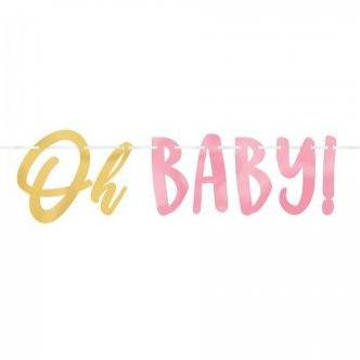 Oh Baby Girl Letter Banner - The Pretty Prop Shop Parties, Auckland New Zealand