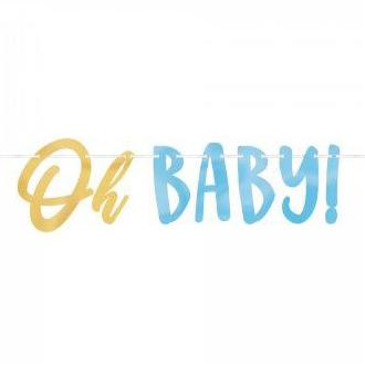 Oh Baby Boy Letter Banner - The Pretty Prop Shop Parties, Auckland New Zealand