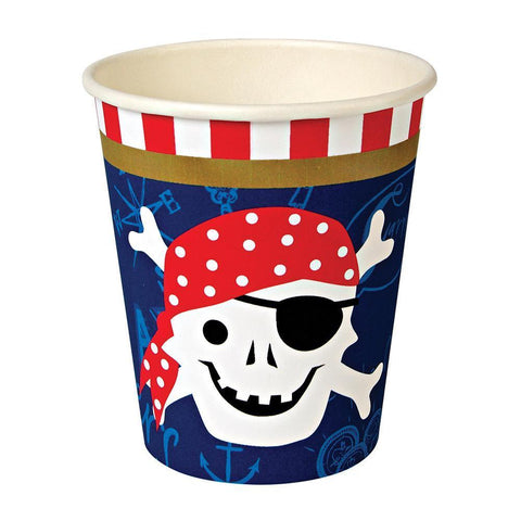 Ahoy There Pirate Paper Cups - The Pretty Prop Shop Parties, Auckland New Zealand