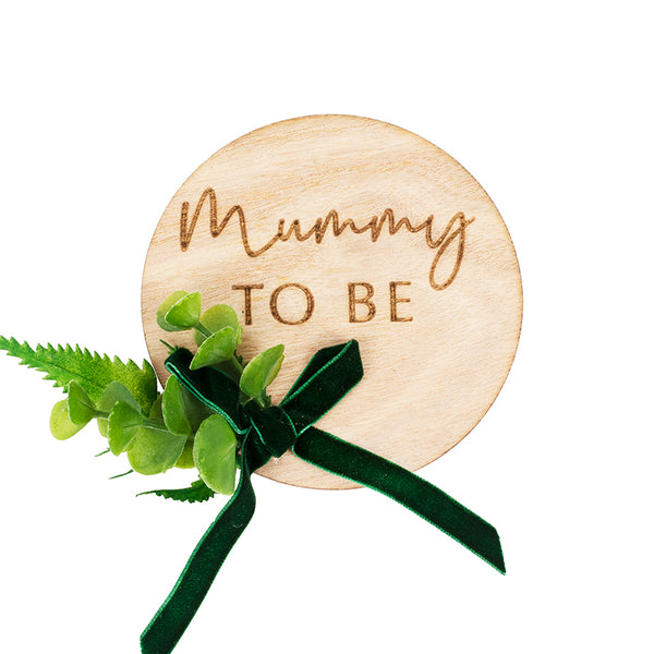 Mummy To Be Wooden Badge - Botanical Baby