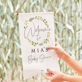 Customizable Baby Shower Welcome Sign - Botanical Baby