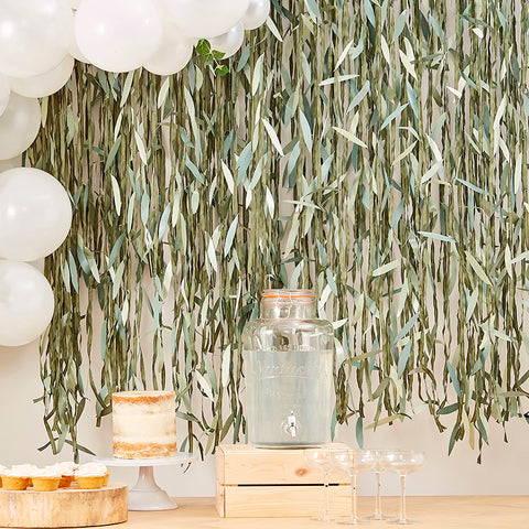 Botanical Leaf Ribbon Backdrop - Botanical Baby