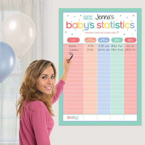 Baby Shower Statistics Game