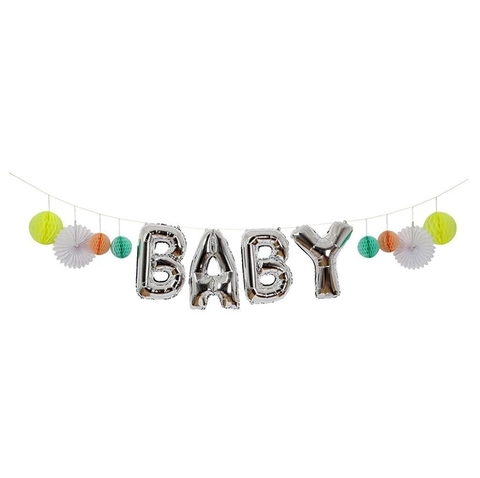 BABY balloon bunting decor nz