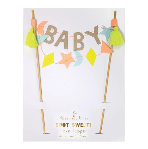 Baby Cake Topper - The Pretty Prop Shop Parties, Auckland New Zealand