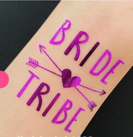 Hen's Party Temporary Tattoo - Purple - The Pretty Prop Shop Parties, Auckland New Zealand