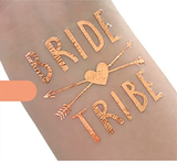 Hen's Party Temporary Tattoo - Rose Gold - The Pretty Prop Shop Parties, Auckland New Zealand