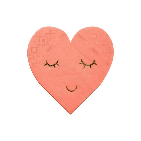 Blushing Heart Napkins - The Pretty Prop Shop Parties, Auckland New Zealand