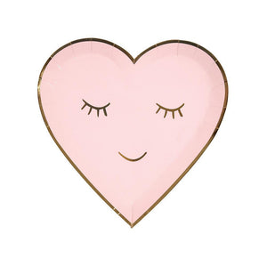 Blushing Heart Plates - The Pretty Prop Shop Parties, Auckland New Zealand