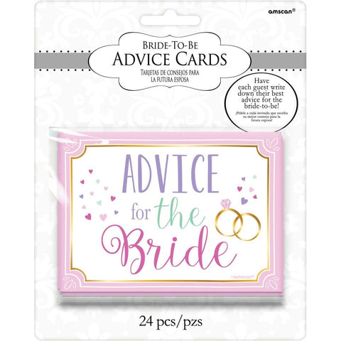 Bride to Be Advice Cards for the Bride - The Pretty Prop Shop Parties, Auckland New Zealand