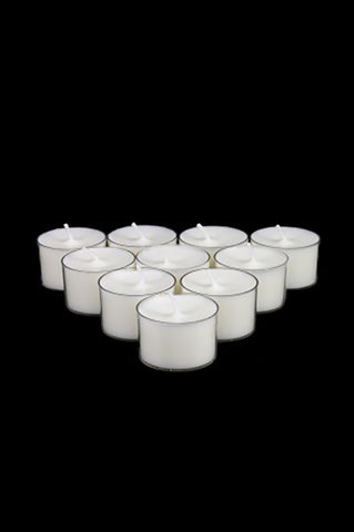Clear Case Tealight Candle White Pack/50 - The Pretty Prop Shop Parties, Auckland New Zealand