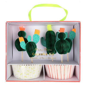 Cactus Cupcake Kit - The Pretty Prop Shop Parties, Auckland New Zealand