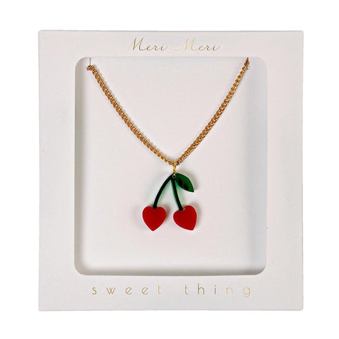 Cherry Charm Necklace - The Pretty Prop Shop Parties, Auckland New Zealand