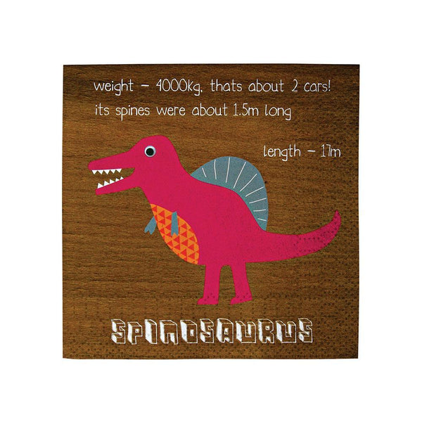 Dinosaur Paper Napkins Small - The Pretty Prop Shop Parties, Auckland New Zealand